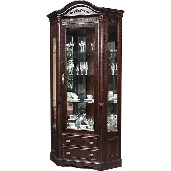 Шкаф с витриной угловой «Паола 2115»